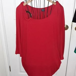 Faded Glory Red Blouse